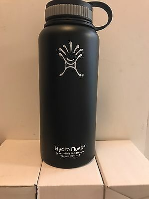 Hydro Flask Insulated Stainless Steel Water Bottle, Wide Mouth 32oz Black Butte
