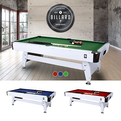 Miweba Pool table 8 Ft Billard Billiardtisch Snooker Pool 8 Foot white