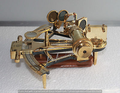 "Nautical Sextant 8"" Working Solid Brass Marine Vintage Collectible Gift Item."