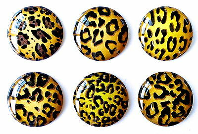6pcs Home Button Sticker Decals Cheetah for iPhone 5/4/3 Apple