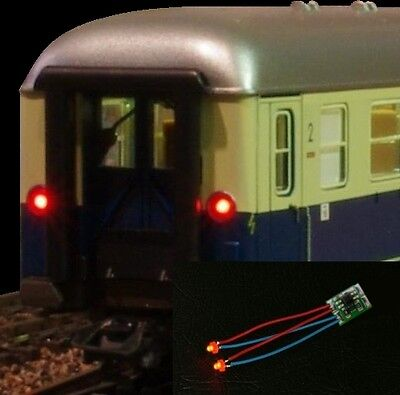 S084 LED Train tail lamp Lighting circuit Waggons mit 1,8mm LEDs rot