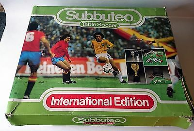 Subbuteo International Edition - Lot Of Extras 5 Teams Lights Figures Grandstand