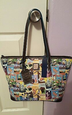Disney Dooney And Bourke 2016 Epcot Food & Wine Festival Tote NWT