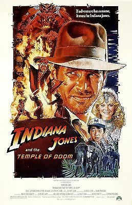 INDIANA JONES AND THE TEMPLE OF DOOM 11X17 Movie Poster collectible CLASSIC
