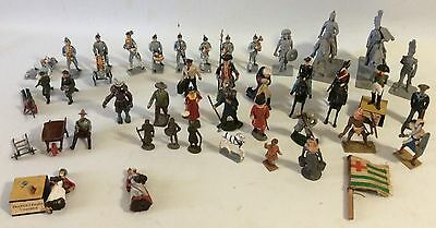 Vintage Lot of Metal/Lead Toys- Soldiers and People