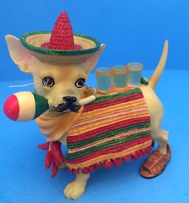 "New Aye Chihuahua ""Ah Mexico"" Resin Figurine By Westland Giftware 13325 - No Box"