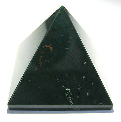 Natural Bloodstone 74 Grams Feng Shui Bagua Crystal Pyramid Gift Reiki Energy