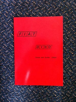 FIAT DINO (Factory) Workshop Manual Service Technical Instruction Handbook