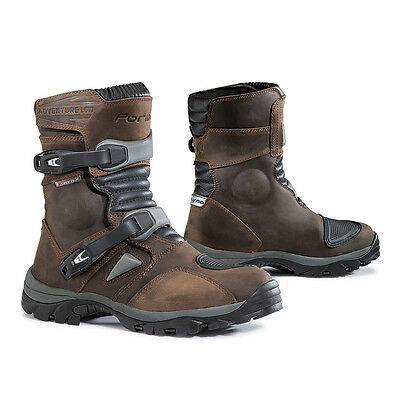 Forma Adventure Low motorcycle boots, mens, brown, waterproof short adv gear