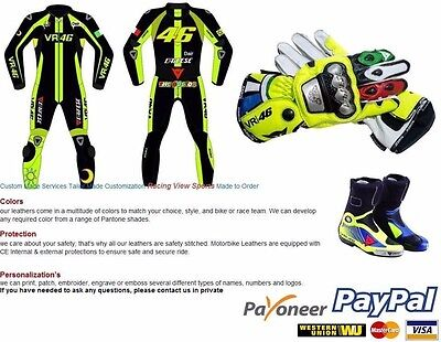 Vr46 dainese motorbike suit shoes and gloves all size avalible