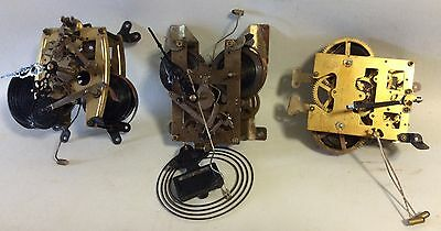 3 Antique Clock Mechanisms