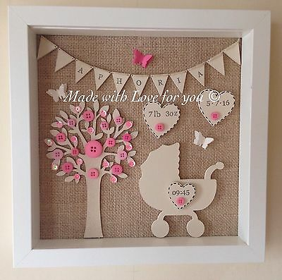 New Baby Personalised Frame/Gift