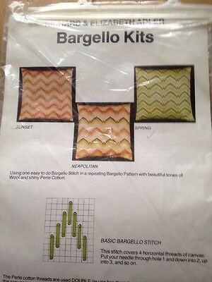 Vintage Tapestry Bargello Kit Cushion Cover Front Perle & Wool