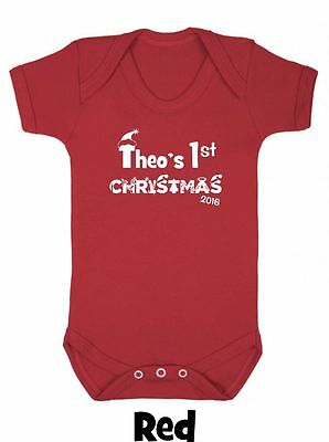 My First 1st Christmas Baby Grow Boy Girl Clothes Gift Vest Present