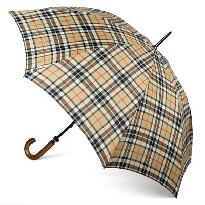 NEW Clifton Gents' Camel Thompson Tartan Umbrella