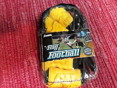 Franklin Sports Flag Football Set 5 Pack Never used Yellow