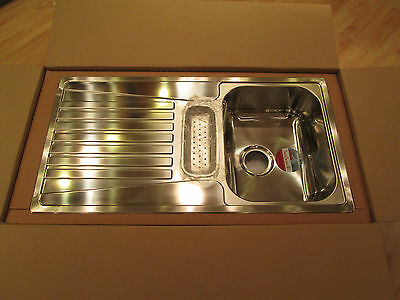 Stainless Steel Inset Kitchen Sink with Shallow Drainer