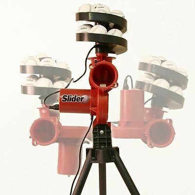 SLIDER cricket bowling machine with 12 extra balls FREE ideal batting practice