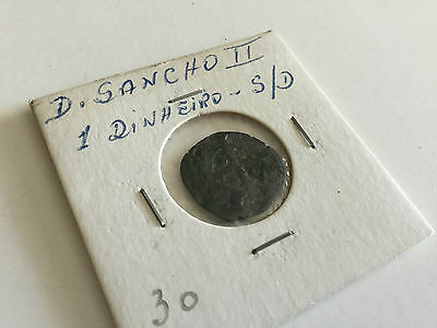 portuguese coin 1 dinheiro without date D sancho II