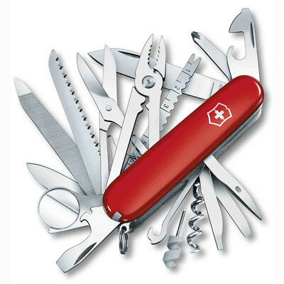 NEW Victorinox Red Champ Swiss Army Knife Officer's Pocket Knife 33 Functions