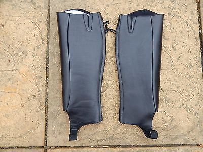 Dublin 'Daily' gaiters.  Leather half chaps/gaiters.  Small adult.  Black