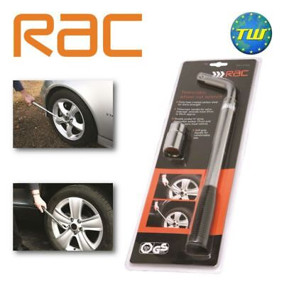 RAC Telescopic Wheel Nut Wrench 17 & 19mm - Car Van Brace Breaker Bar 370-550mm