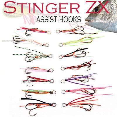 Bream Stinger Assist Hooks ZX VX  Vibes Blades Shrimp Lures Eco Bream Jigs Micro