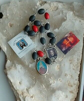 Chaplet Infant of Prague with reconstruct image child Jesus /St Theresa