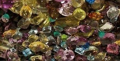 ^ 100 Carats Of Assorted Knock Outs And Broken Gemstones From Old Gold - Stones