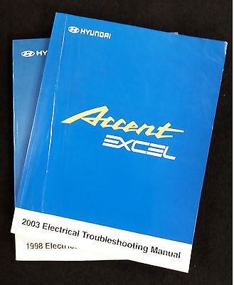 Genuine Hyundai Accent ,Pony & Excel Electrical Troubleshooting Manuals set of 2