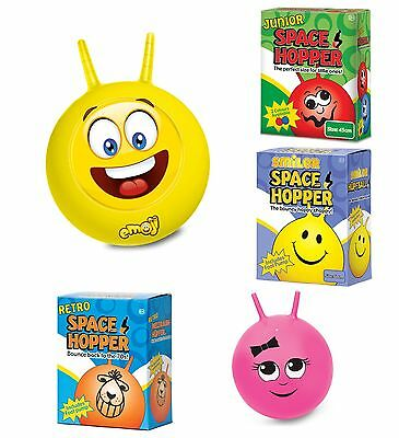 Retro Space Hopper EMOJI Kids Adults Fun Outdoor Toy Pink Sally Hopper