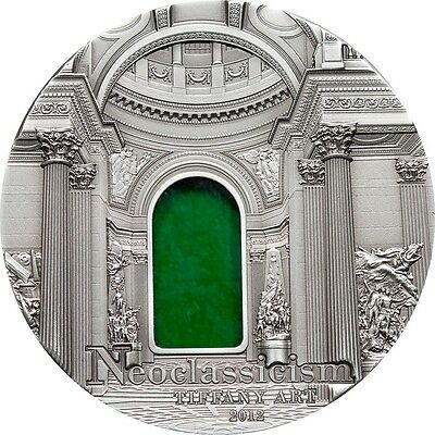 Tiffany Art Neoclassicism 2oz Silver Coin Palau 2012 $10 Limited Uncirculated