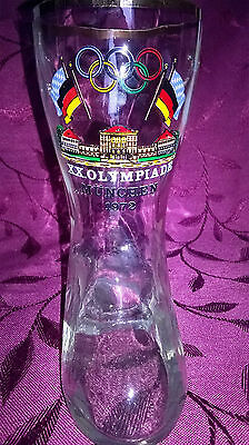 Vintage 0.25 Litre glass beer boot Munich 1972 Olympics