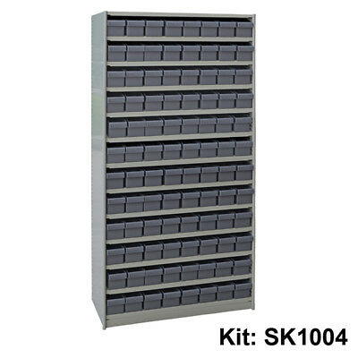 Stormax Steel Shelving Kit - Parts Tray (400mm deep with 96 parts trays) - Shipp