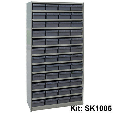 Stormax Steel Shelving Kit - Parts Tray (400mm deep with 48 parts trays) - Shipp