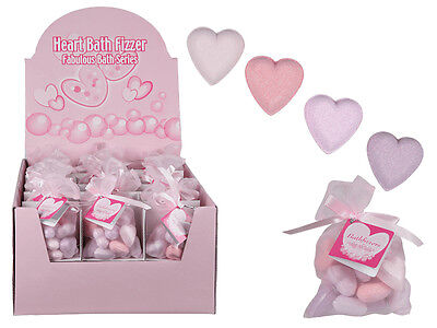 3 x Pouches of Heart Bath Bomb Fizzers Christmas Weddings Gift Favours