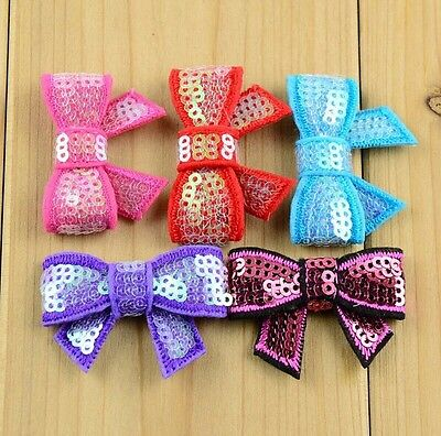 10Pcs baby /Girl kids Toddler children bow hair  with clips 5cm