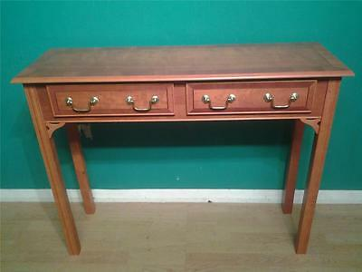 Regency Adams style inlaidyew wood hall console table