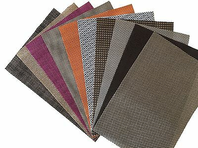 4x Vinyl Dining Table Place Mats Placemat Weave Woven Effect Modern Colours