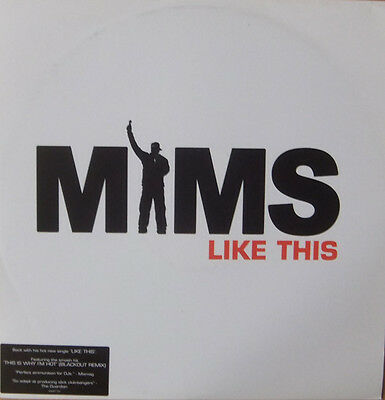 """Mims – Like This [Inc This Is Why I'm Hot] 12"""" Vinyl Record Hip Hop Dancehall"""
