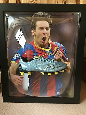 *Rare* Lionel Messi Signed Boot In Domed Display Case With COA