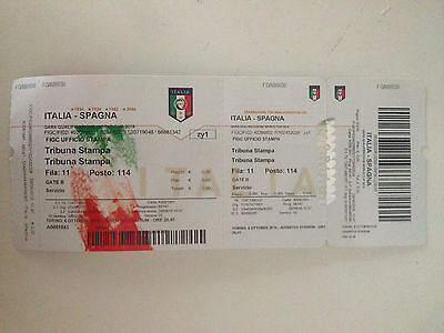 Entrada Press Media Mint Ticket Italy Spain 2016 Qualifying World Cup 2018