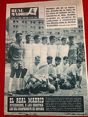 Real Madrid Spain Benfica Portugal European Cup Final 1961 1962