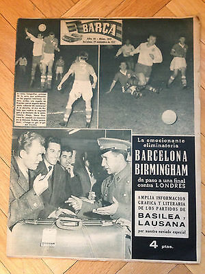 Barcelona Spain Birmingham England Fairs Cup Uefa C3 1957 1958 Spain Switzerland
