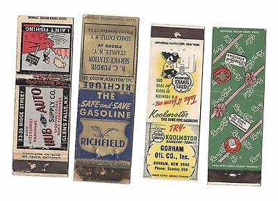 Transportation Matchbooks  Oil Gas Auto  Pure Quill Richfield Cities Service Roc