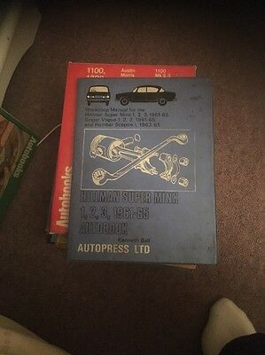 Autopress Ltd Hillman Super Minx Manual 61-65 Good Condition
