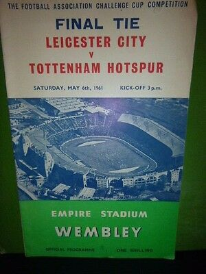 1961 Fa Cup Final Programme  Leicester V Tottenham