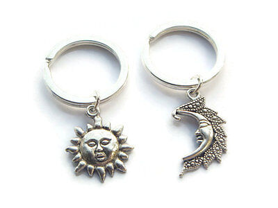 Sun And Moon Keychains Moon Keyring Sun Keychain Best Friends Gift Set Couples