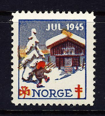 NORWAY 1945 Christmas Seal (NKS40) David Andersen, artist - Mint Never Hinged