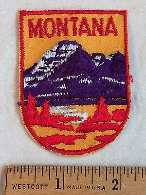 Vintage State of MONTANA Mountains Souvenir Patch Badge